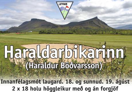 Haraldarbikarinn 2018 – skráning á golf.is