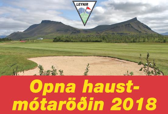 Haustmótaröð 2018 – skráning á golf.is