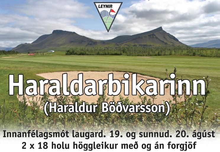 Haraldarbikarinn 2017: skráning á golf.is