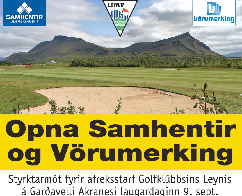 Stórglæsilegt styrktarmót í boði Samhentir og Vörumerking