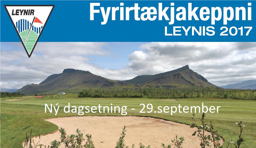 Fyrirtækjamót GL – Ný dagsetning 29.september