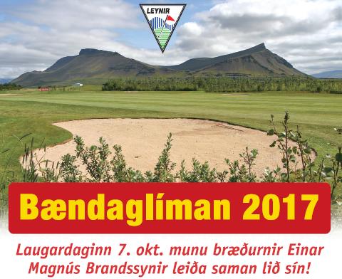 Bændaglíman 2017 – skráning á golf.is