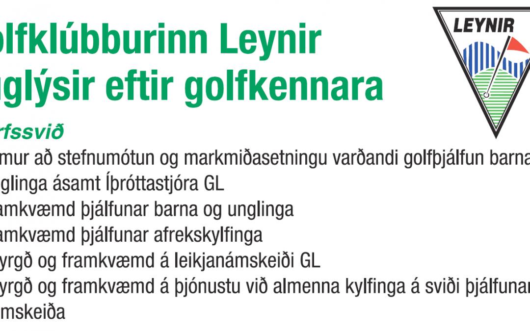 Leynir auglýsir eftir golfkennara