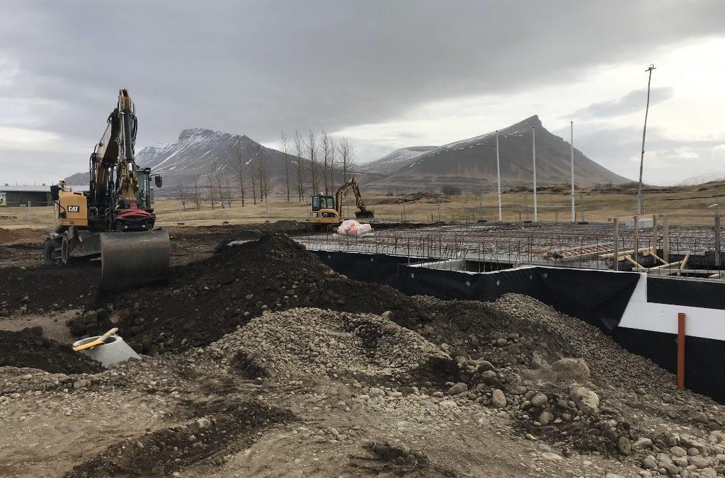 Staða framkvæmda við frístundamiðstöð 15.apríl 2018