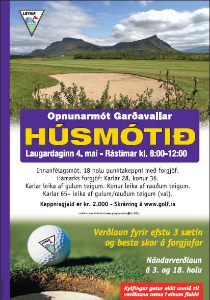 Húsmótið 2019 – skráning hafinn í fyrsta mót sumarsins