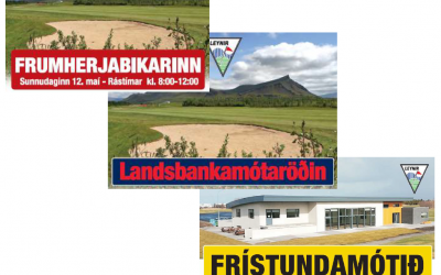 Mótahald farið af stað og golfreglu kynning 7.maí